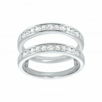 Prong Set Diamond Insert Ring in 14K White Gold (1/2 ct. tw.)