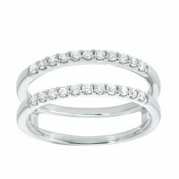 Prong Set Diamond Insert Ring in 14K White Gold (1/3 ct. tw.)