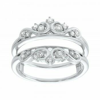 14K White Gold Inserts Prong Diamond Ring (1/5 ct. tw.)
