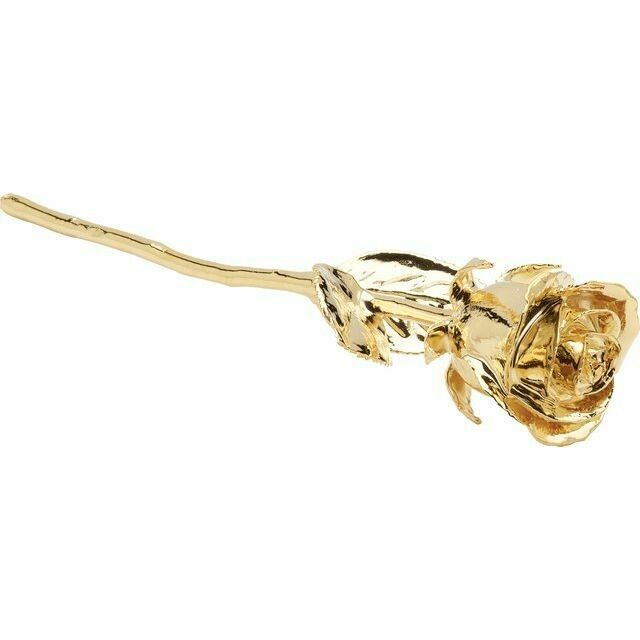 Lacquered 24K Gold-Plated Rose