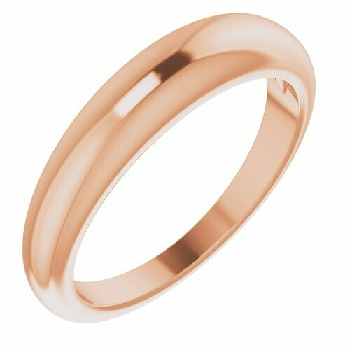 14K Rose Petite Dome Ring