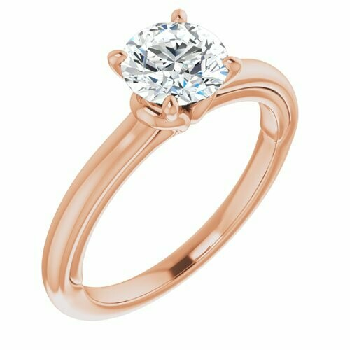 14K Yellow/White Round 1 ct Engagement Ring