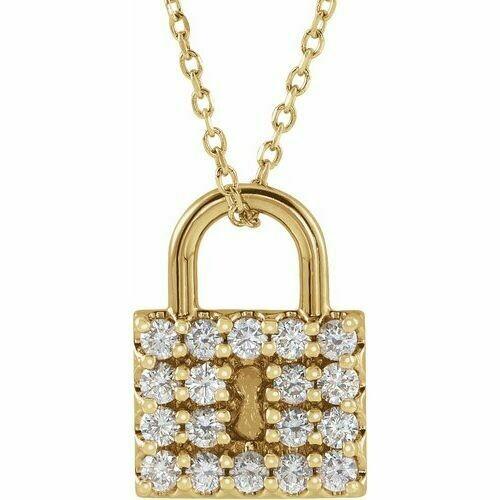 14K Yellow 1/2 CTW Diamond Lock 16-18