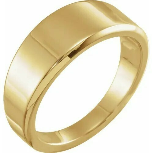 14K Yellow Tapered Stackable Ring
