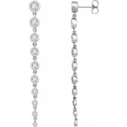 14K White 2 CTW Lab-Grown Diamond Earrings