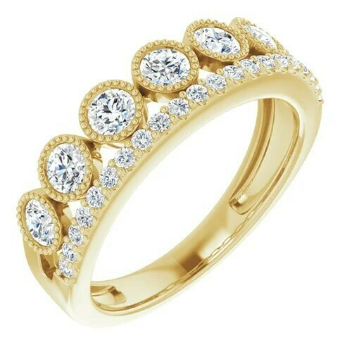 14K Yellow 1 CTW Lab-Grown Diamond Ring
