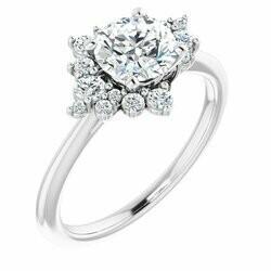 CTW Lab-Grown Diamond Semi-Set Engagement Ring