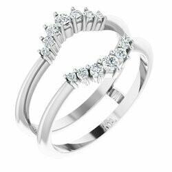 14K White 1/4 CTW Lab-Grown Diamond Ring Guard