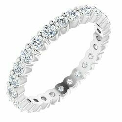 14K White 3/4 CTW Lab-Grown Diamond Eternity Band Size 7