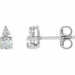 14K White 1/2 CTW Lab-Grown Diamond Earrings