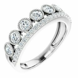 14K White 1 CTW Lab-Grown Diamond Ring
