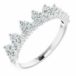 14K White 5/8 CTW Lab-Grown Diamond Stackable Ring