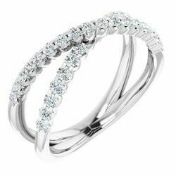 14K White 1/2 CTW Lab-Grown Diamond Criss-Cross Ring