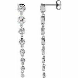 14K White 1 3/4 CTW Lab-Grown Diamond Earrings