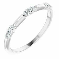 14K White 1/8 CTW Lab-Grown Diamond Stackable Ring