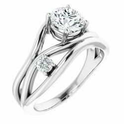 14K White 1 1/8 CTW Lab-Grown Diamond Ring