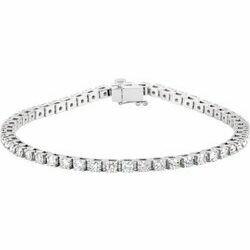 "14K White 3 1/2 CTW Lab-Grown Diamond Line 7 1/4"" Bracelet"