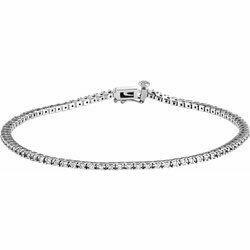 "14K White 7/8 CTW Lab-Grown Diamond Line 7 1/4"" Bracelet"