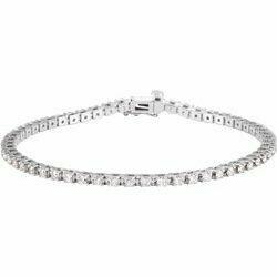 "14K White 2 1/4 CTW Lab-Grown Diamond Line 7 1/4"" Bracelet"