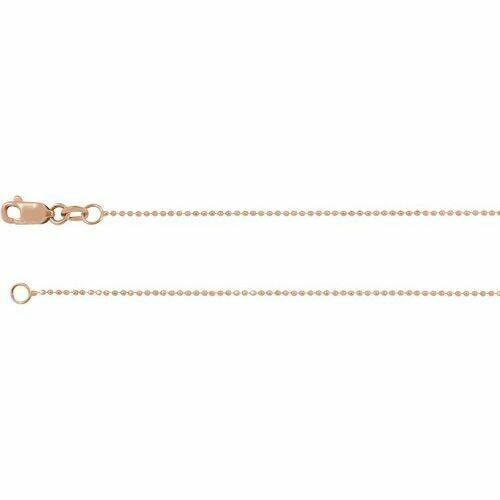 14K Rose 1mm Diamond-Cut Bead 18