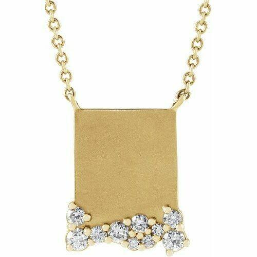 14K Yellow Engravable 1/5 CTW Diamond 16