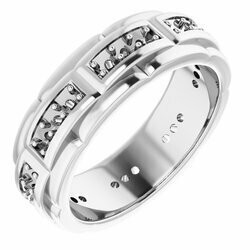 14K White 2 mm Round Mens Ring Mounting