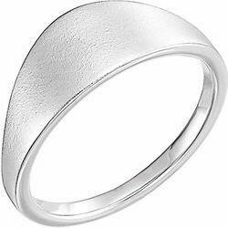 14K White 21x7 mm Geometric Signet Ring
