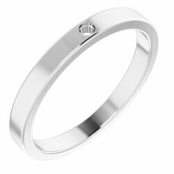 14K White Stackable Family Ring Mounting