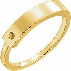 14K Yellow Family Ring Mounting