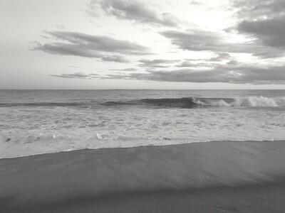 Matunuck Beach Black and White 002
