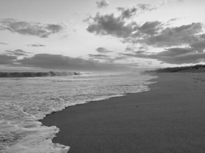 Matunuck Beach Black and White 001