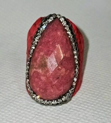 Anillo Piedra Rosa Aloa
