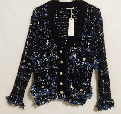 Chaqueta tweed azul Aloa