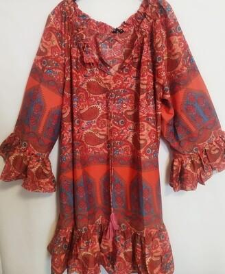 Vestido Seda Hippie Chic Madeleine