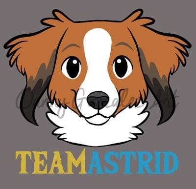T-Shirt | Team Astrid | Kooikerhondje | Unisex