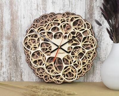 Часы настенные деревянные «Органика»