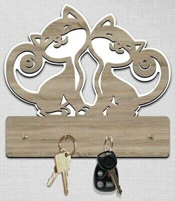 Ключница котики-дуб