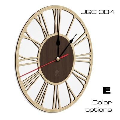 Настенные часы Классик, круглые со стеклом UGC004 (d 45)