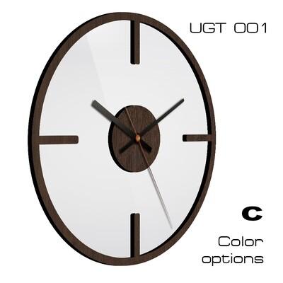 Часы настенные Лофт UGT001 со стеклом (d 30)