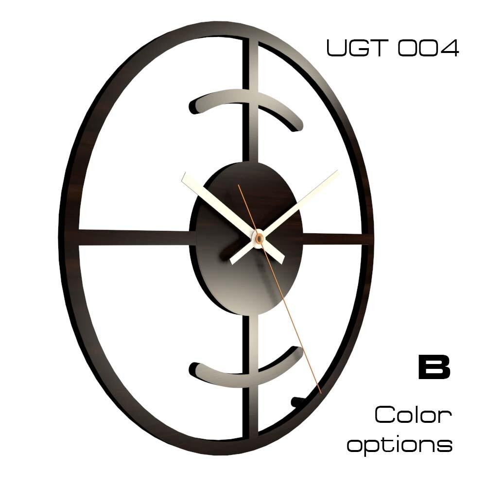 Часы настенные Лофт со стеклом UGT004 (d 30)