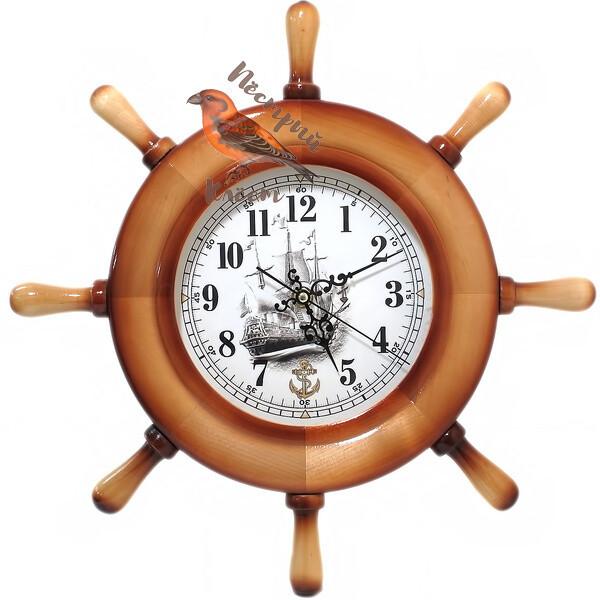 Настенные часы штурвал  М.Москвин 6018А8
