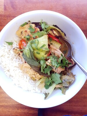 Thai style red curry