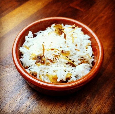 Basmati rice with vermicelli & onion