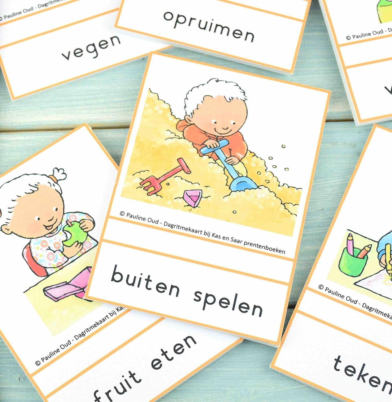 Dagritme-kaarten voor in de Groep