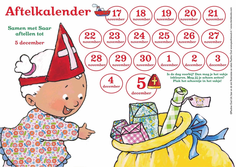 Aftel-kalender naar Sinterklaas