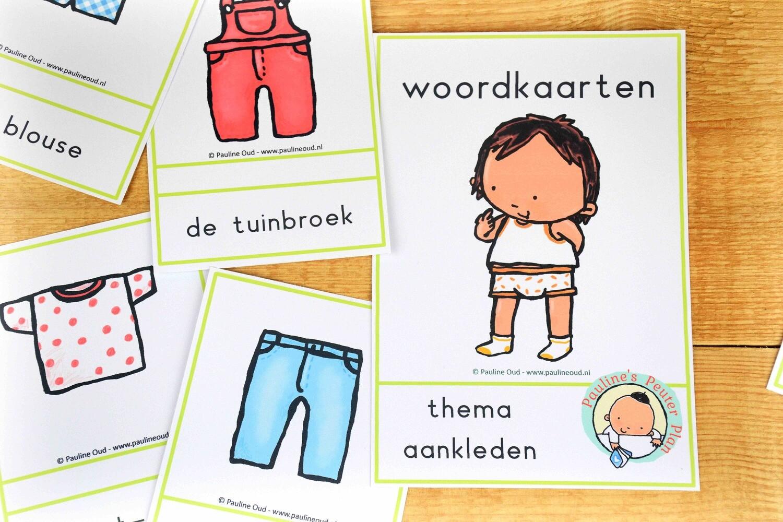 Woord-kaarten & spel Thema Aankleden