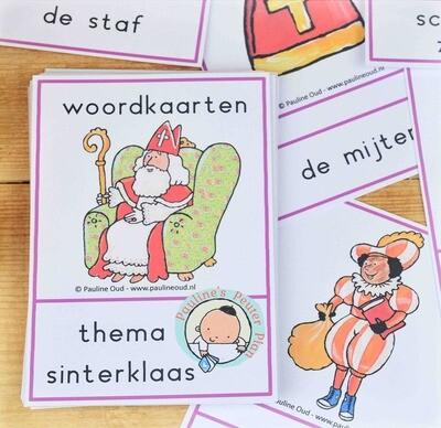 Woord-kaarten Thema Sinterklaas