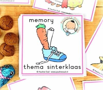 Memory spel Thema Sinterklaas