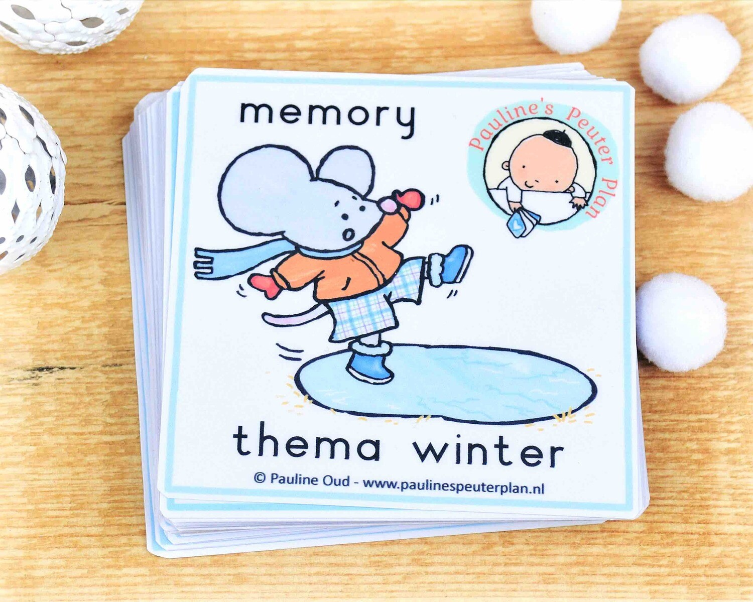 Memory spel Thema Winter