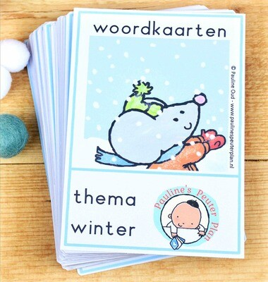 Woord-kaarten Thema Winter